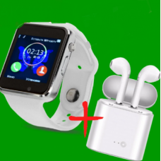 Смарт-часы  A1 Original часы-телефон + Блютуз Наушники I7s в Подарок