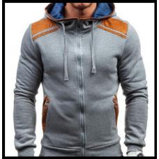 Толстовка , реглан, куртка размер L код 66 серая