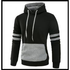 Толстовка, реглан, куртка с капюшоном M-XL Код 61 чёрно-серая