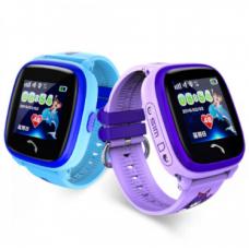 Детские водонепроницаемые смарт-часы  GPS DF25 Aqua NEW Smart Watch (фиолетовые , голубые)