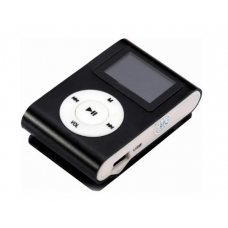 MP3 мини плеер MX-801FM мини с экраном прищепкой черный полная комплектация