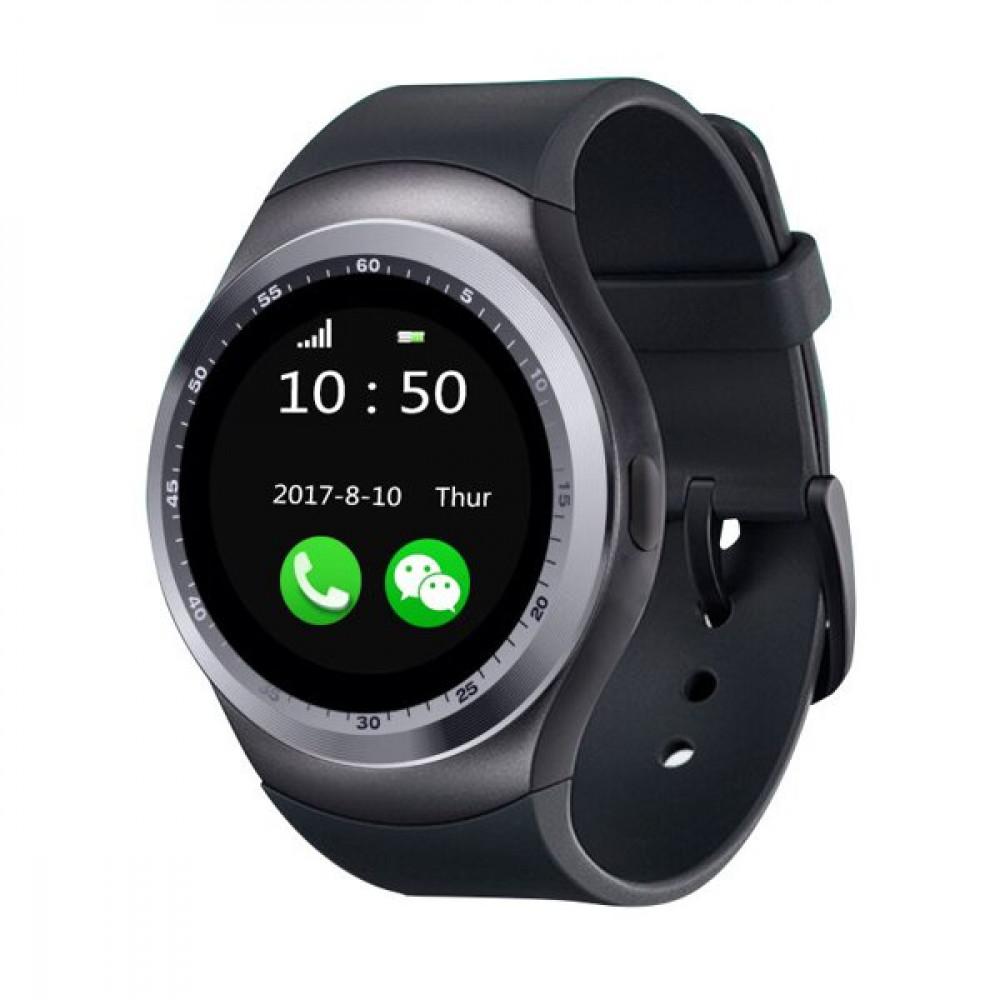 Смарт Часы Smart Watch Y1 Bluetooth Sim карта шагометр черные