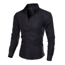 Мужская рубашка приталенная длинный рукав M- XL 4 цвета код 1