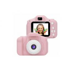 Детский цифровой фотоаппарат JYC X02 розовый батарея 400 мАч 8 мегапикселей