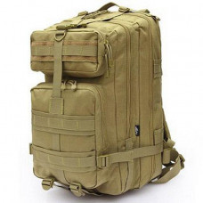 Рюкзак военный тактический штурмовой с USB Спартак Molle Assault 36L Coyote Песочный (007032)