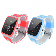 Десткие смарт часы T10S розовые, с сенсорным экраном 1,44 дюйма, фонарик, камера, SOS кнопка