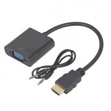 Переходник-конвертер видео HDMI в VGA активный с аудио (HDMI-VGA-5)