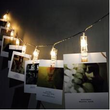 Светодиодная гирлянда Light Technology Limited с прищепками для фото 10 led 1.6 м (0030)