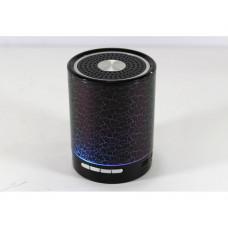 Bluetooth колонка с разноцветной-подсветкой T2020 черная Выход под наушники 3.5 мм Емкость батареи: 1020mAH