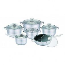 Набор посуды (кастрюль) из 6 предметов Unique UN-5033, кастрюли с крышками , нержавеющая сталь