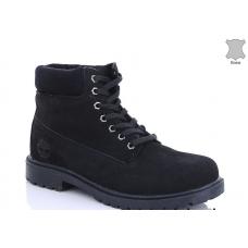 Ботинки зимние мужские  MD 8801-15 натуральная кожа
