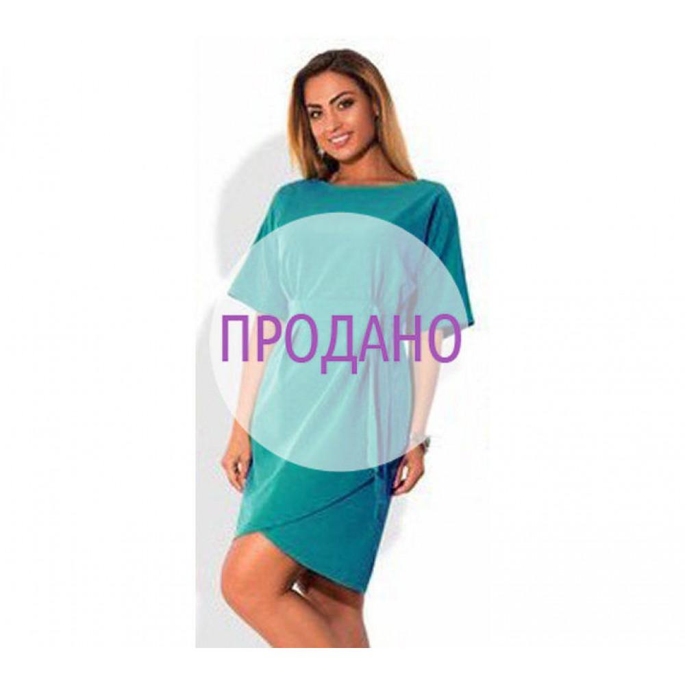"""Платье """"Сабрина"""": коралл и бирюзовый"""