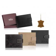 Мужской кошелек из натуральной кожи Always Wild Польша. Цвет винтаж