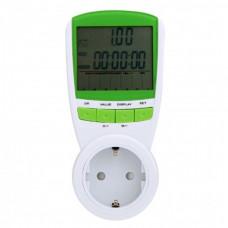 Розетка со счетчиком электроэнергии UMI TS-838 - ваттметр бытовой, измеритель мощности
