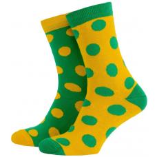 Носки с принтом женские Mushka Avo-avocado DGY001 36-40 Желто-зеленые (009467)