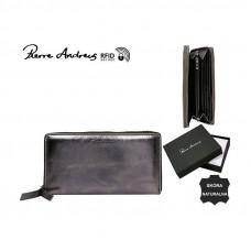 Кожаный кошелек Pierre Andres N511-METALLIC черный