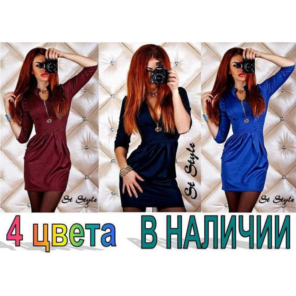 Стильное вечерне платье (4 цвета) код: 805