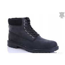 Ботинки зимние мужские  MD 8801-11 натуральная кожа