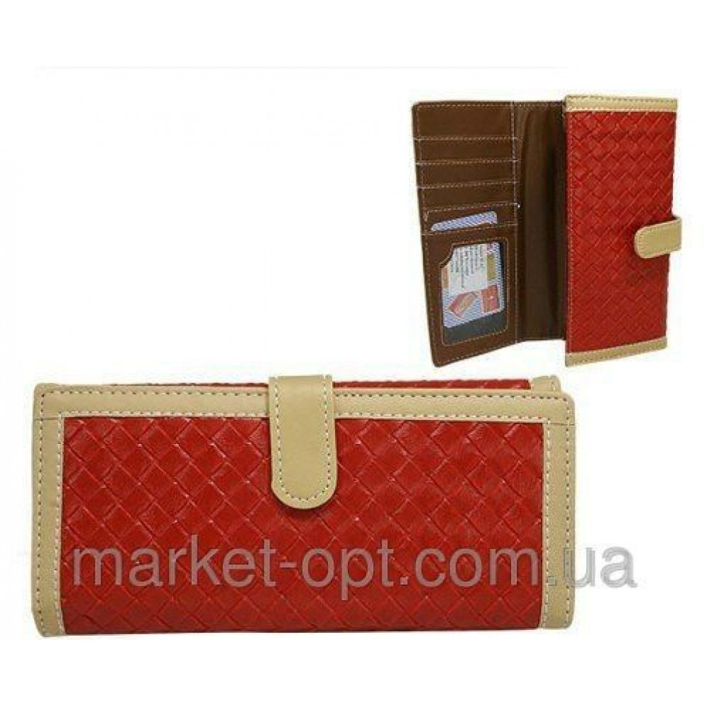 Модный женский кошелек Польского производства (Красный)
