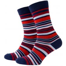 Носки с принтом женские Mushka Multi stripe MST001 36-39 Разноцветные (009494)