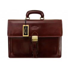 Портфель бренд Rovicky Италия натуральная кожа цвет коньяк