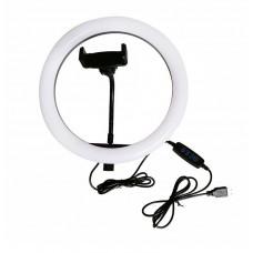 Светодиодная кольцевая лампа Ring Fill Light LC666 с держателем для телефона 26 см (300600)