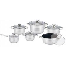 Набор посуды (кастрюль) из 6 предметов Unique UN-5036, кастрюли с крышками , нержавеющая сталь