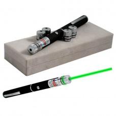 Лазерная указка Green Laser Pointer + 5 насадок Черный (G101001166)
