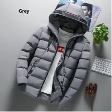 Мужская куртка зимняя водоотталкивающая размер М-4XL серая