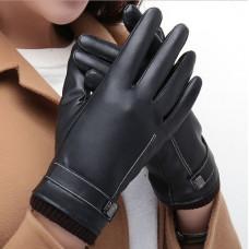 Перчатки  для сенсорных экранов утепленные ! Классические.  Чёрные код 105