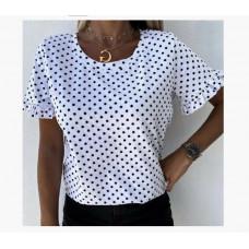 "Блуза в горошек с коротким рукавом ""Ненси"""