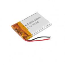 Аккумулятор Li-Ion 502535, 500mAh, 3.7V