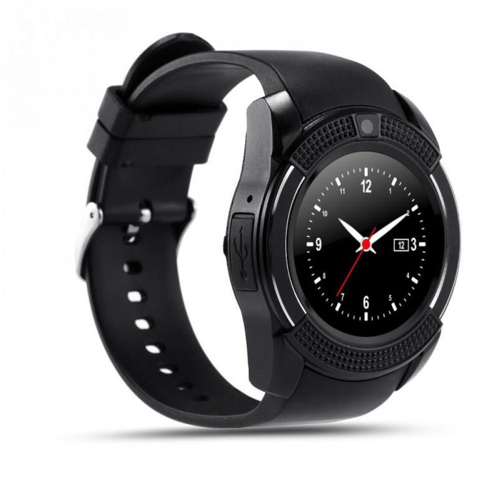 Умные часы Smart V8 Black Sim+карта памяти!
