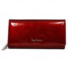 Кошелек фирменный лаковый  Pierre Cardin код 106 (красный)