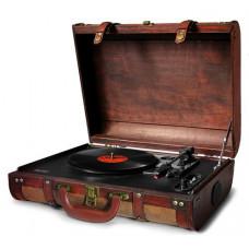 Проигрыватель виниловых дисков Camry CR 1149 с чемоданом Коричневый (5902934830546)