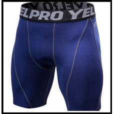 Компрессионные шорты для бега, кроссфита, бодибилдинга,  размеры М-XXL синие