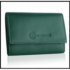 Кошелек женский бренд Betlewski натуральная кожа Польша зелёный код 418