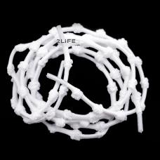 Шнурки для обуви с узелками эластичные  2Life Белый (n-501)