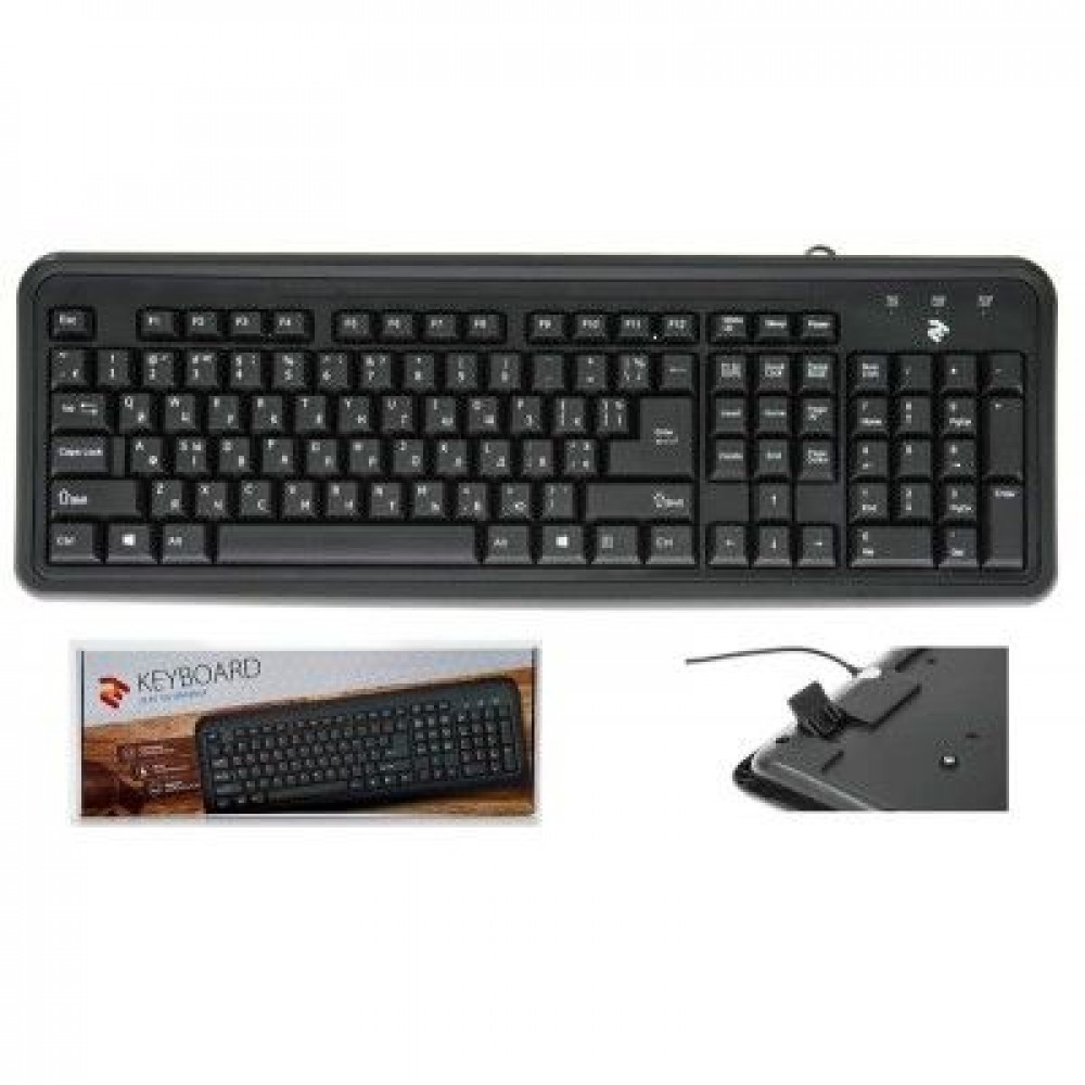 Проводная клавиатура 2E KS 102 USB Black