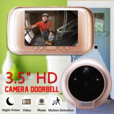 Дверной Видео Глазок Датчик движения 3.5 HD дисплей M10 фото видео