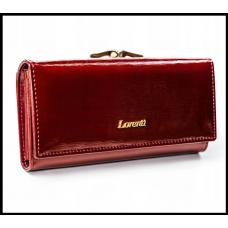 Кожаный женский лакированый  кошелёк с защитой RFID бренд  LORENTI