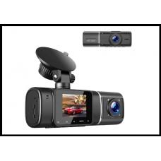Двухкамерный видеорегистратор, 1,5-дюймовый ЖК-экран, FHD парковочный монитор