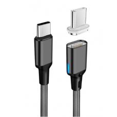Магнитный кабель для зарядки MacBook TypeC - Type C 100W Черный (hub_Xrer12419)