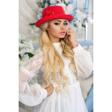 Шляпа-федора «Элисса» (красный) Braxton