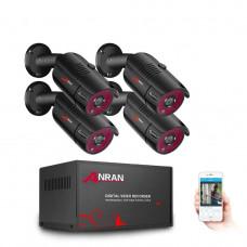 Комплект видеонаблюдения Anran 4ch 2MP-1080P