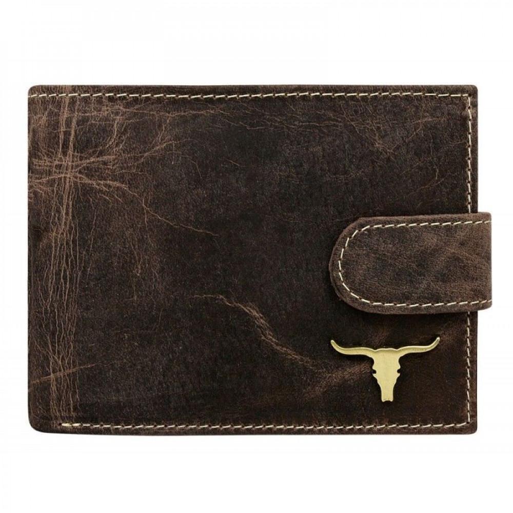 Мужской кошелек Always Wild с изображением быка из натуральной кожи