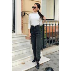Стильные женские  джинсы мом 44,46,48 черные