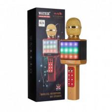 Микрофон-караоке беспроводной WSTER WS-1828 Золотой (101114)