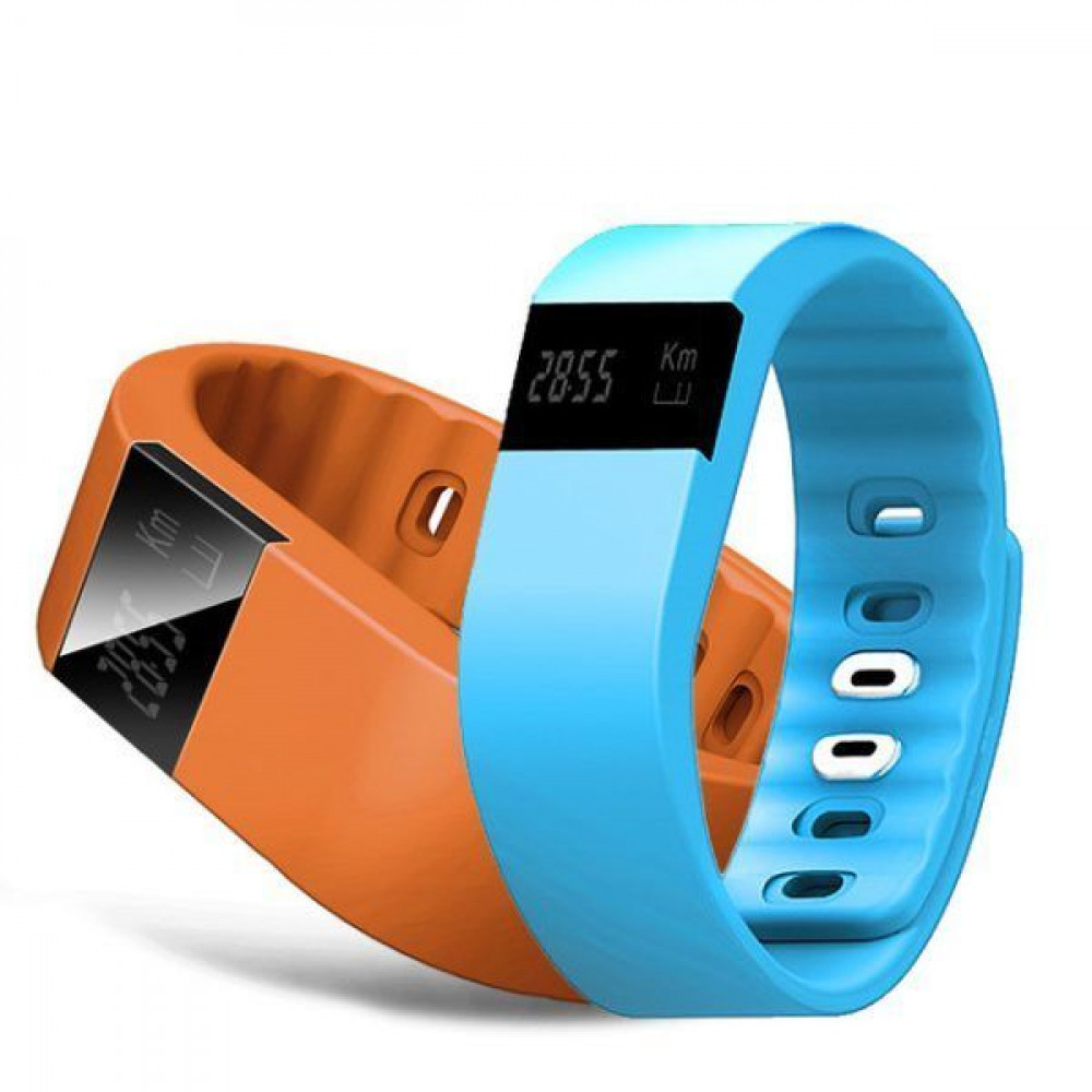 Фитнес браслет  TW64 голубые шагомер; калькулятор калорий; измеритель дистанций; анализатор качества сна, будильник