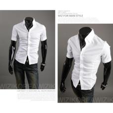 Рубашка мужская белая классическая M-XXL код 59